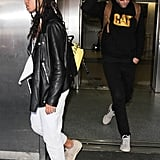 Robert Pattinson and FKA Twigs at LAX Airport September 2016