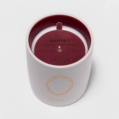 7oz Birthstone Ceramic Jar Garnet Candle