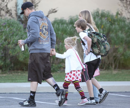 Slide Photo of Jesse James Cheated On Sandra Bullock and Takes Kids to School