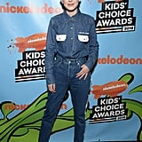 Millie Bobby Brown at Nickelodeon's 2018 Kids' Choice Awards