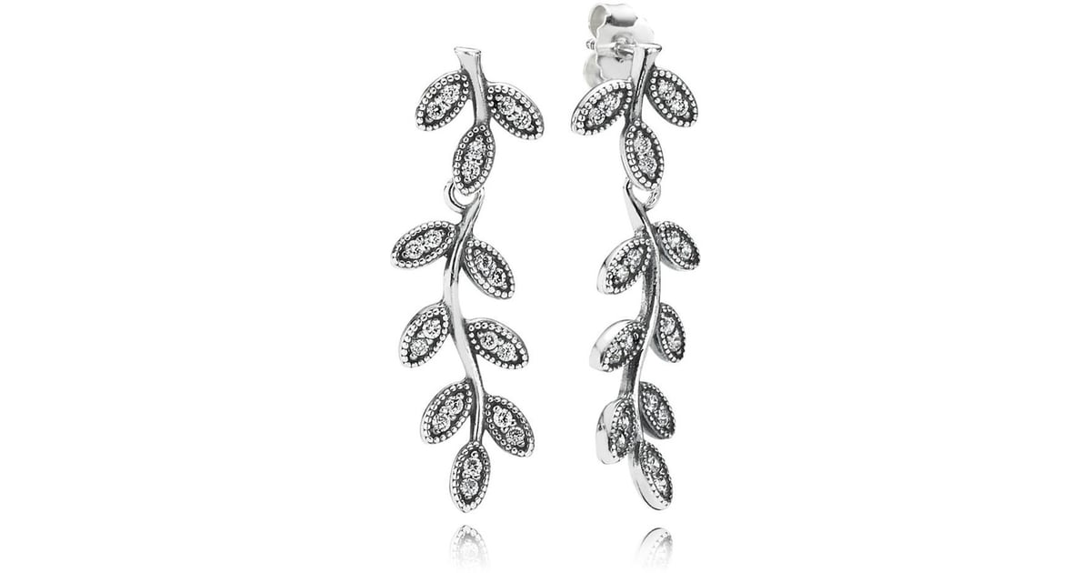 417eadc8d Pandora Sparkling Leaves Statement Earrings | Best Statement Earrings |  POPSUGAR Fashion UK Photo 37