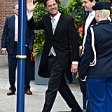 Dutch Prime Minister Mark Rutte waved as he left the inauguration.