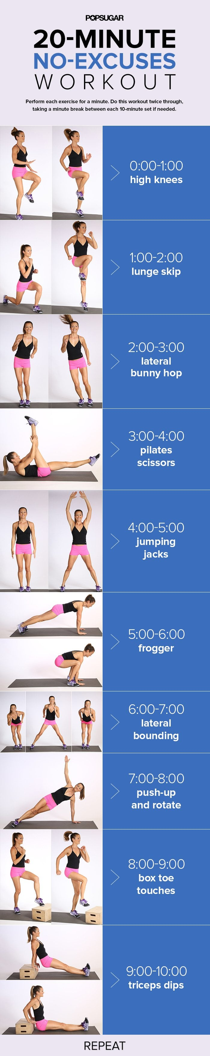 One-and-Done Workout | Printable Cardio Workouts ...
