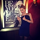 Doutzen Kroes gave a thumbs-up upon arriving at the premiere of Beyoncé's premiere of Life Is But a Dream. Source: Instagram user doutzenkroes1