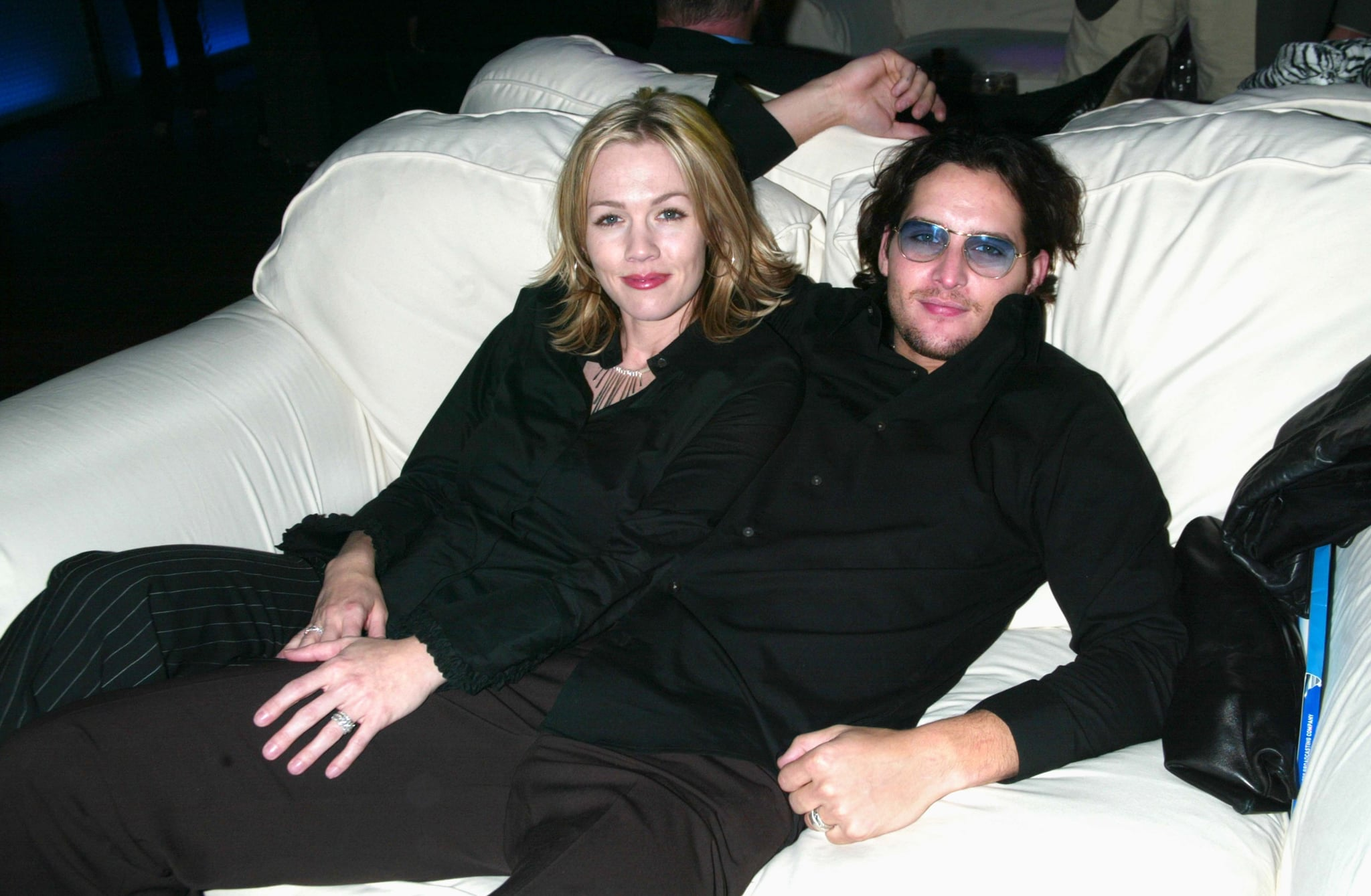 In May 2002, Peter Facinelli and Jennie Garth hung out at Fox's 2002-2003 Upfront Party in NYC.