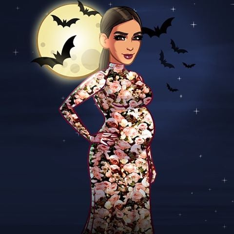 """Kim teased her costume with this """"sneak peek"""" from her game."""