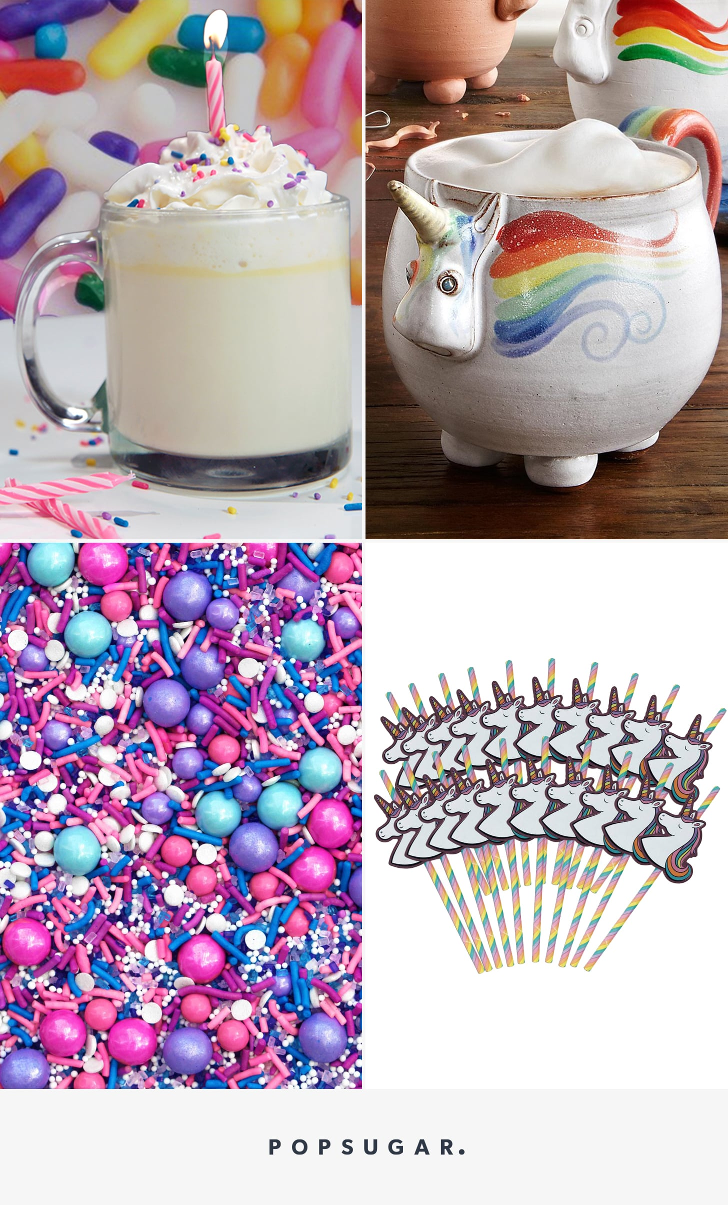 Unicorn Hot Chocolate Recipe Popsugar Food