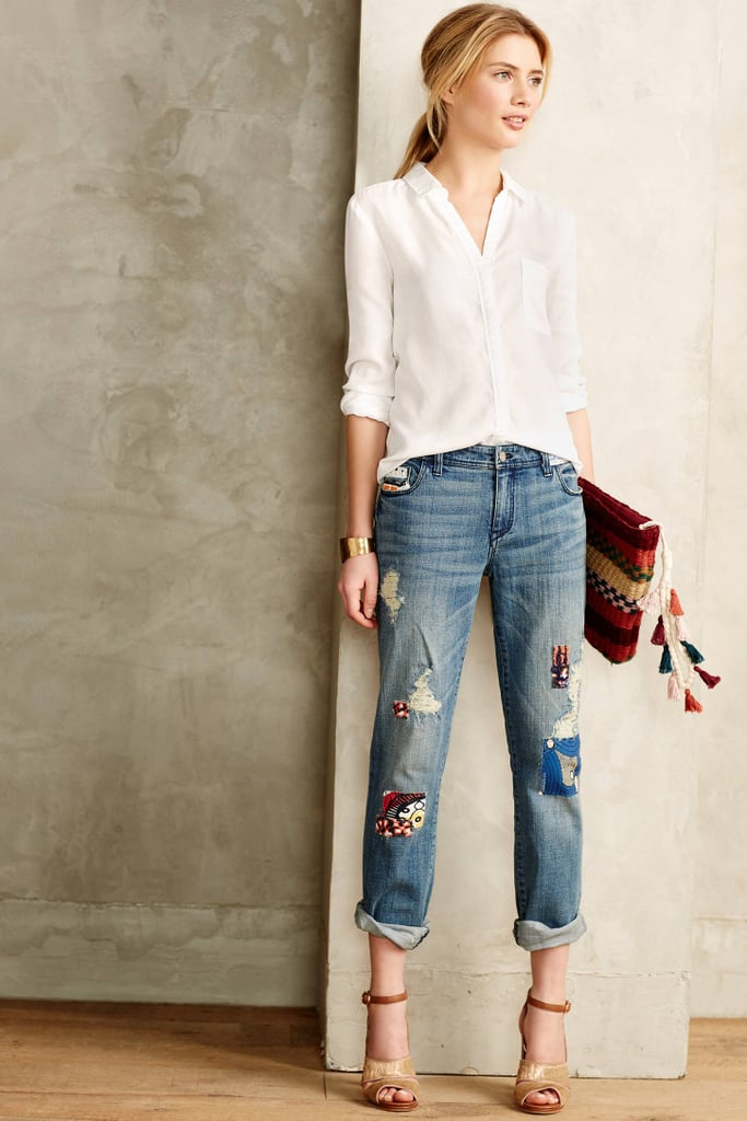 Pilcro Premium Hyphen Embellished Patchwork Jeans ($158)