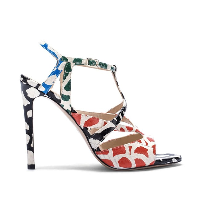 M.Gemi 'Delizia' Snakeskin and Graphic Sandals ($398)
