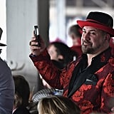 Joey Fatone dressed to the nines in 2017.