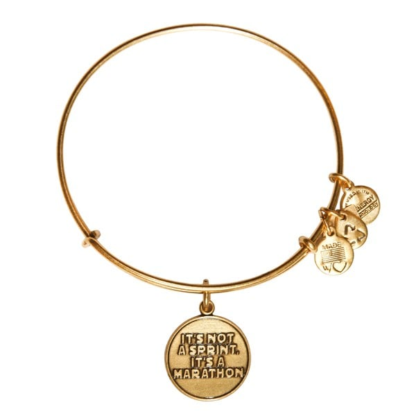"Alex and Ani ""It's Not a Sprint"" Charm Bangle"