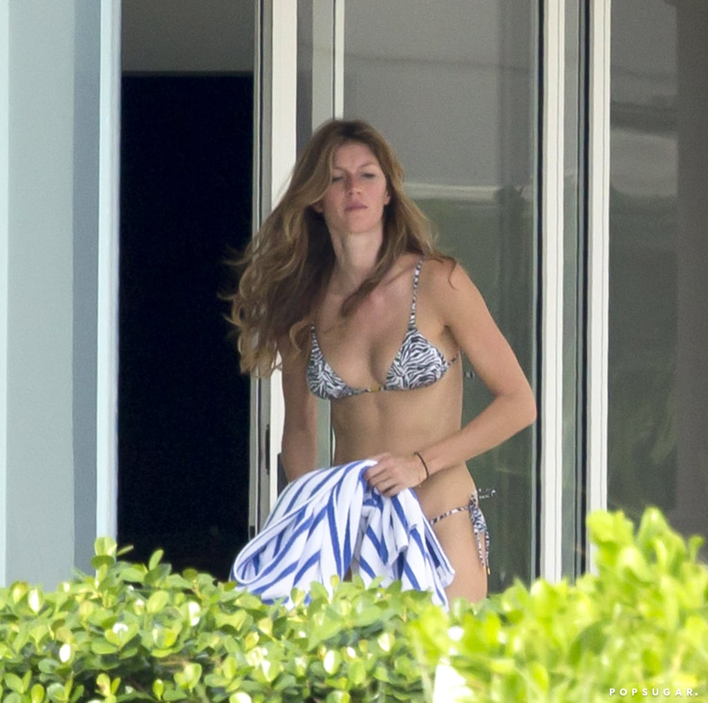 Gisele Bündchen showed off her bikini body during a trip to Miami.