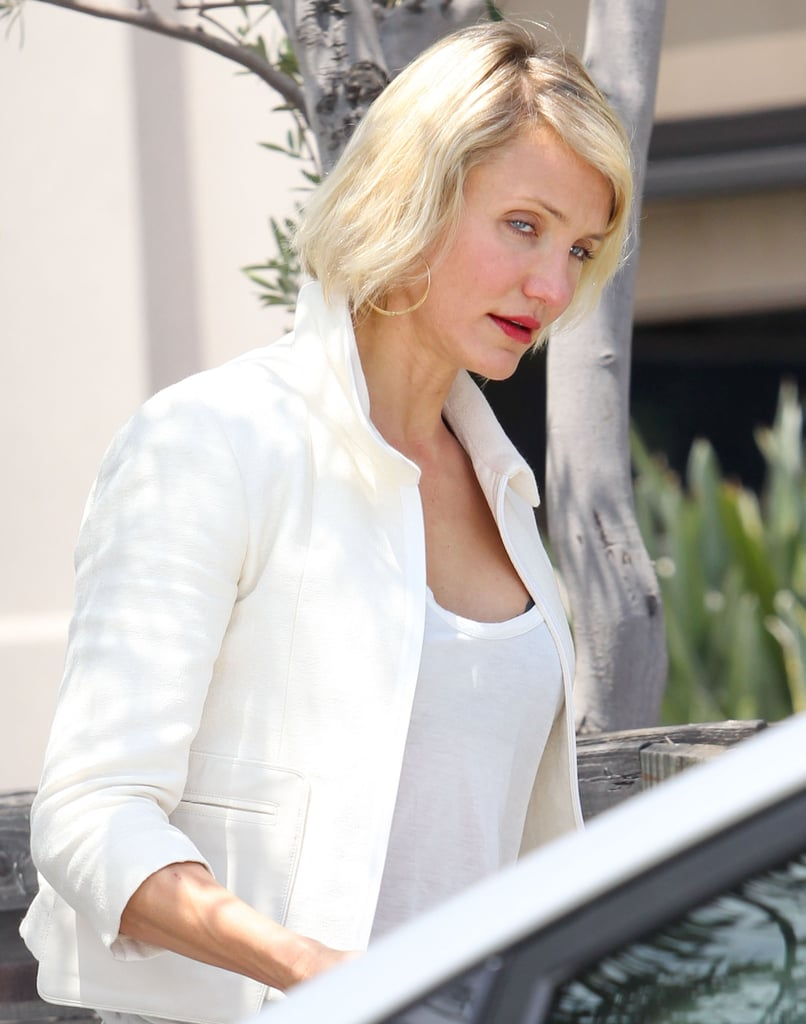 Cameron Diaz went to a LA meeting.