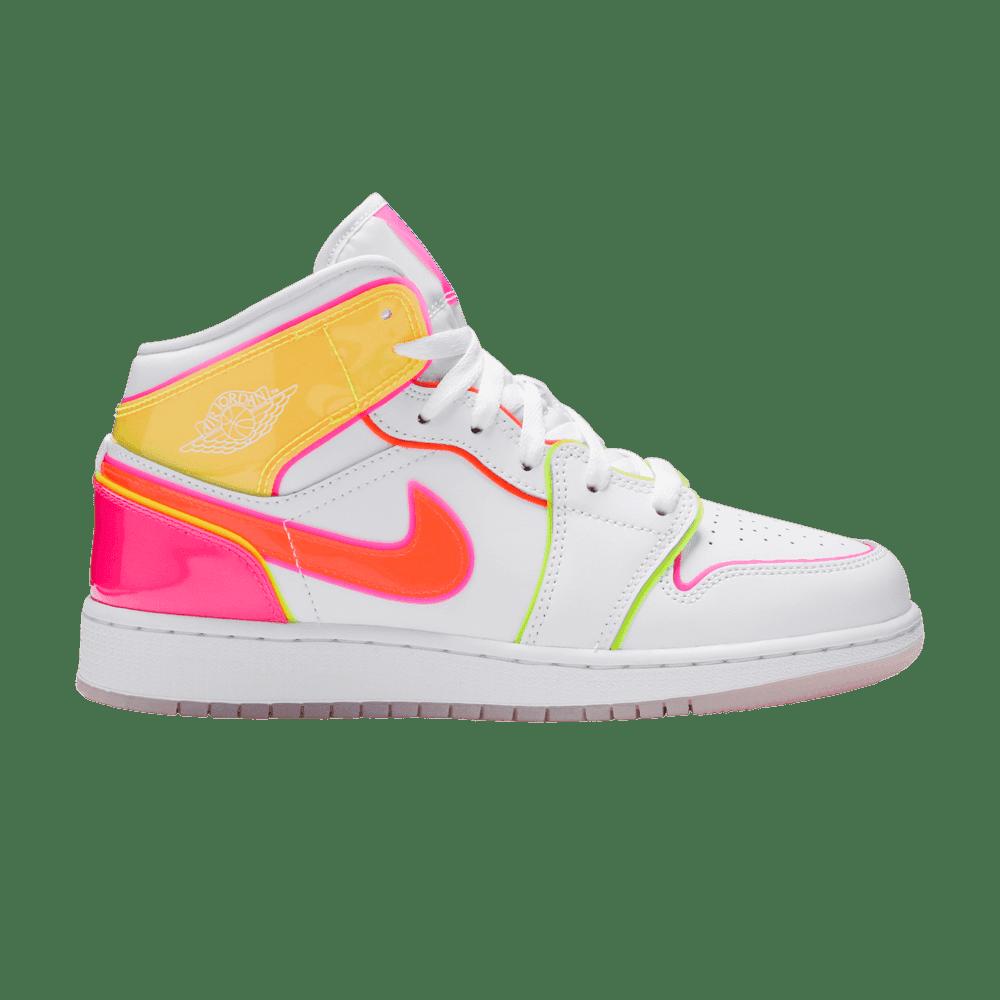 Nike Air Jordan 1 Mid SE GS 'Edge Glow'