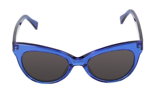 Kamalikulture's cobalt cat-eye sunglasses ($98) will undoubtedly lend a retro-chic touch to your outfits.