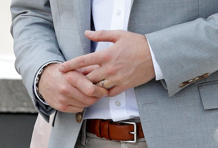 why does prince harry wear a wedding ring popsugar