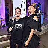 Sia and Christian Siriano at the Daily Front Row Fashion Awards