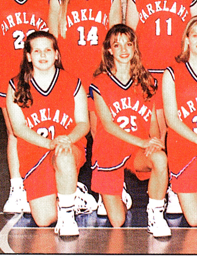 Britney Spears was a star on the basketball court.