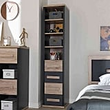 Baxton Studio Pandora Tall 2-Tone 4-Drawer Short Storage Cabinet