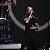 Adam Levine performed in Nashville.