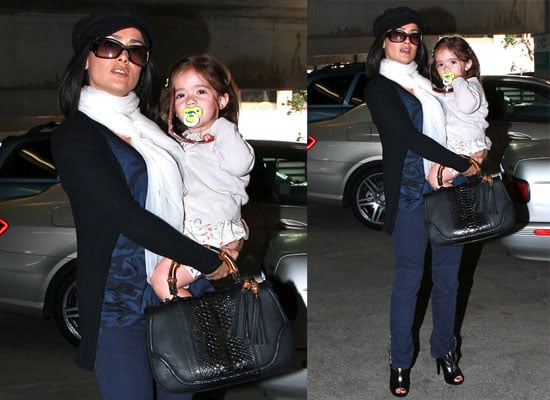 Photos of Salma Hayek and Valentina Pinault Running Errands Together in Beverly Hills