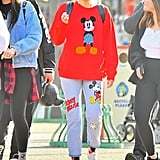 Miley Cyrus Decked Out in Mickey Gear at Disneyland