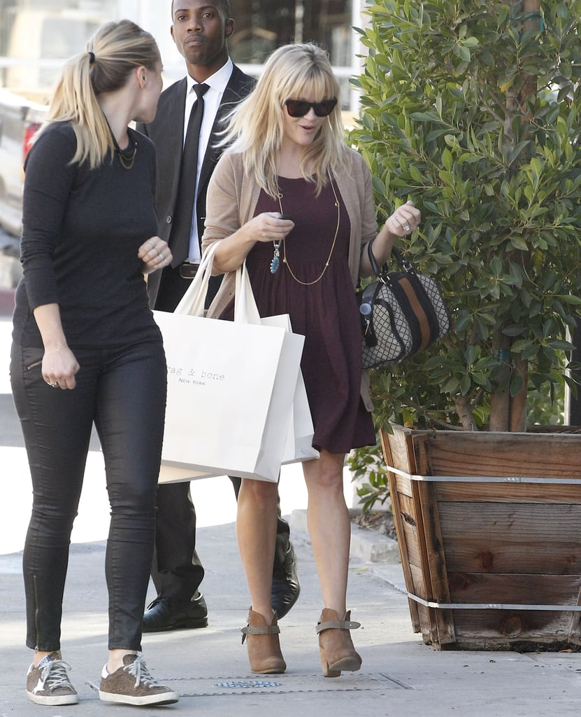 Reese Witherspoon wore a pair of Rag & Bone booties.