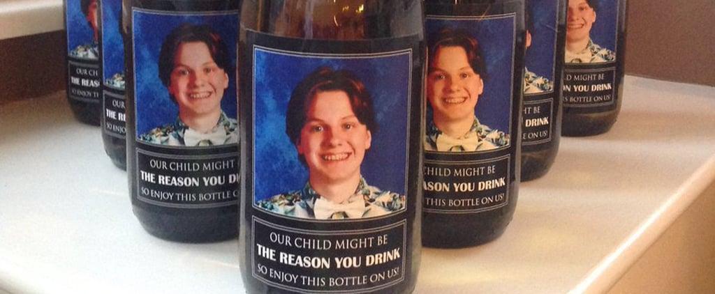 Personalized Wine Bottle Gift For Teachers
