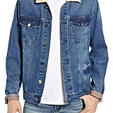 BlankNYC Fleece Collar Denim Trucker Jacket