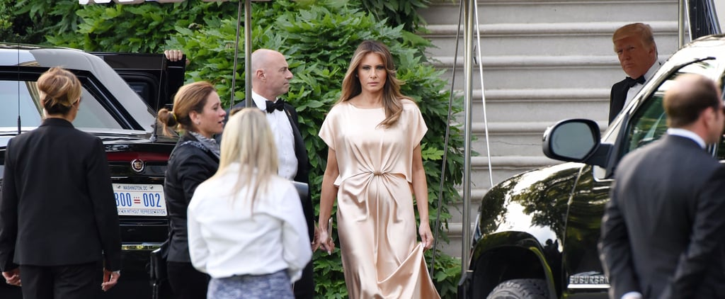 Melania Trump Chose a Simple Monique Lhuillier Gown For the Ford's Theatre Gala