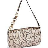 Topshop Spin Snake Print Shoulder Handbag