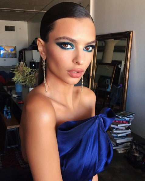 Emily Ratajkowski Hair and Makeup Emmys 2016