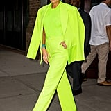 Blake Lively's Green Versace Suit