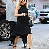 In June 2016, Jennifer wore a black halterneck dress for a day out in New York.