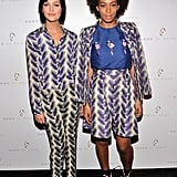 Solange Knowles and Leigh Lezark were pretty in prints for the Noon by Noor show on Friday.