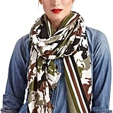 Sole Society Horse Print and Stripe Scarf ($30)