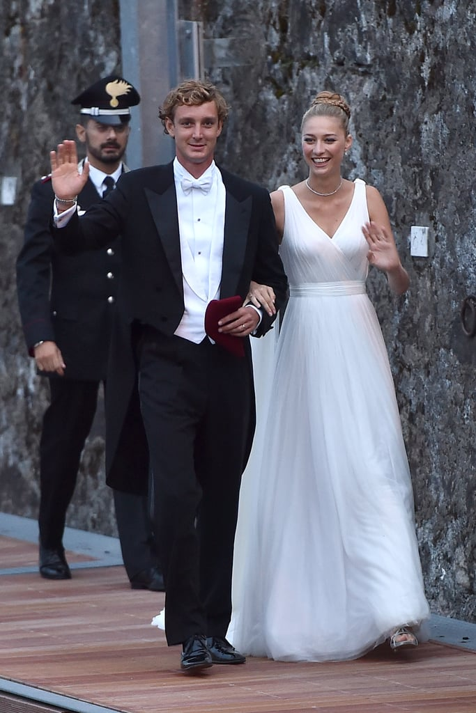 Beatrice Borromeo and Pierre Casiraghi The Bride: Beatrice Borromeo, member of Italy's most ancient and aristocratic family. The Groom: Pierre Casiraghi, Princess Grace's grandson. When: July 25, 2015 Where: Angera, Italy