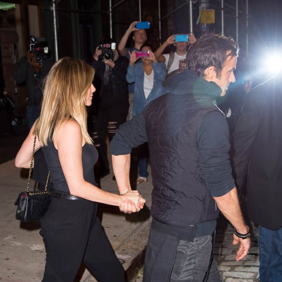 Jennifer Aniston and Justin Theroux out for dinner in New York in first photos together since Brange split