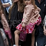 Angelina Jolie with blonde daughter Vivienne.