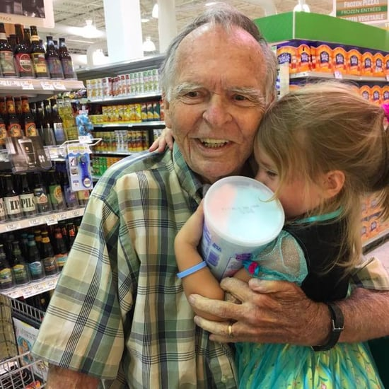 Little Girl Meets New Elderly Best Friend In Grocery Store