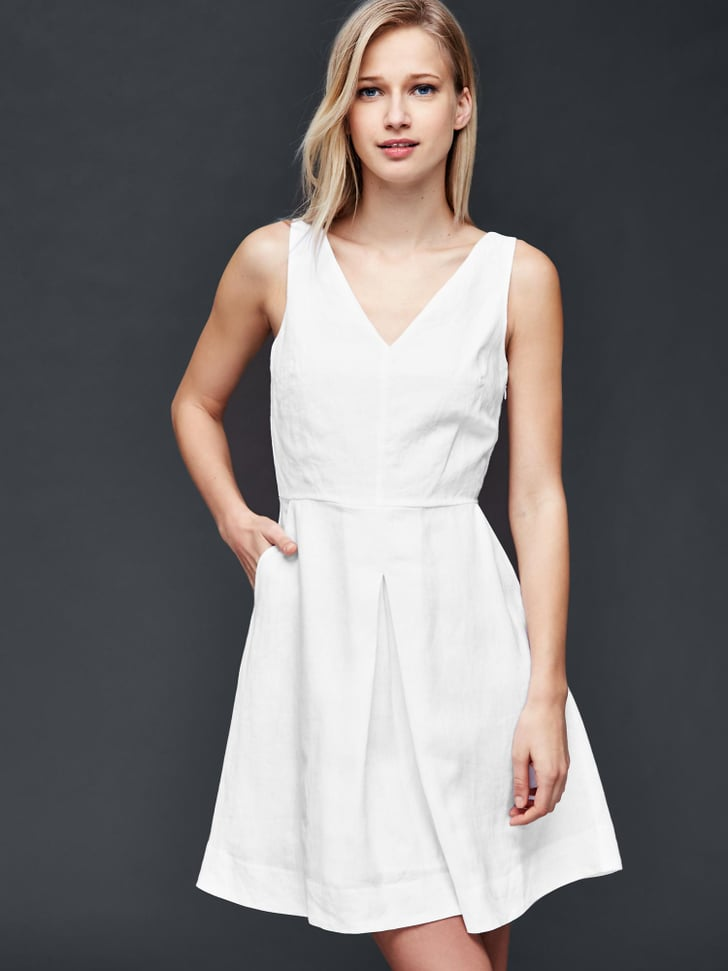 Gap Linen Fit And Flare Dress 70 Best White Dresses