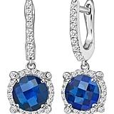 LaFonn Blue Sapphire Drop Earrings