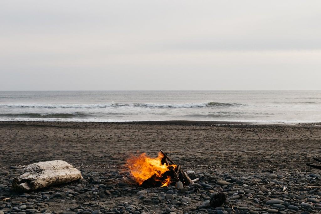 Have a beach bonfire.