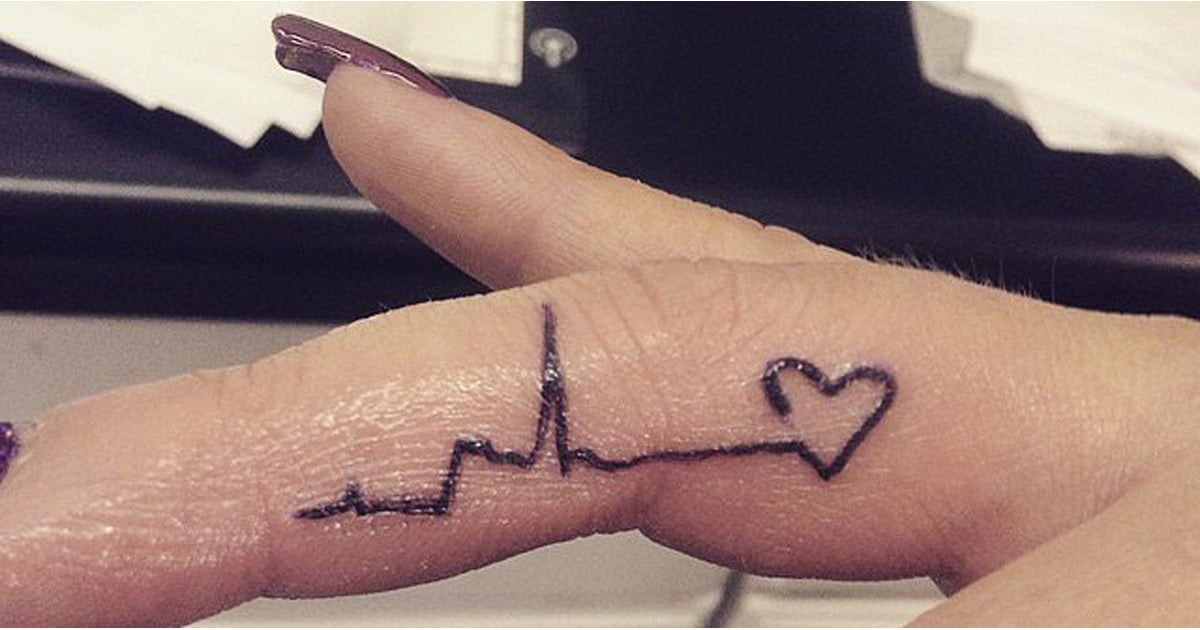 Heartbeat Tattoo Ideas Popsugar Beauty