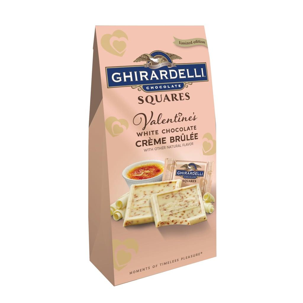 Ghirardelli Squares in White Chocolate Crème Brulée