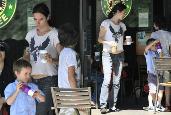 Jennifer Connelly Can't Resist the Power of Starbucks