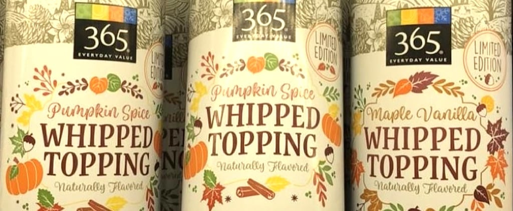 Whole Foods Pumpkin Spice Whipped Cream