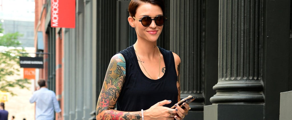 Ruby Rose Color Swatch Tattoo