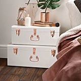 Beautify Storage 2 Piece Trunk Set in White/Pink