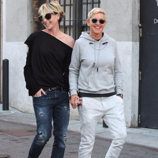Ellen DeGeneres and Portia de Rossi Hold Hands LA Oct. 2016